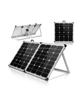 18v 100w folding portable solar panel for 12v abttery charging with charge controller