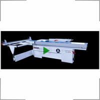 High quality woodworking machinery sliding table saw with scoring blade