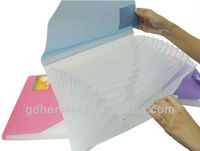 Factory pp expanding bag/expanding file/cheap expanding file folder