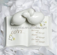 Love Verse Bible with Doves and Calla Lily Accents Wedding Cake Topper wedding favor and gifts