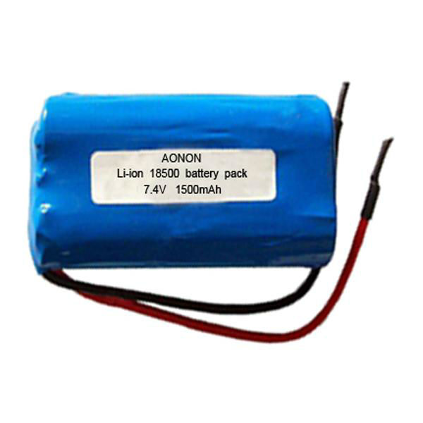ICR18650 Rechargeable 7.4v 1200mah li-ion battery pack
