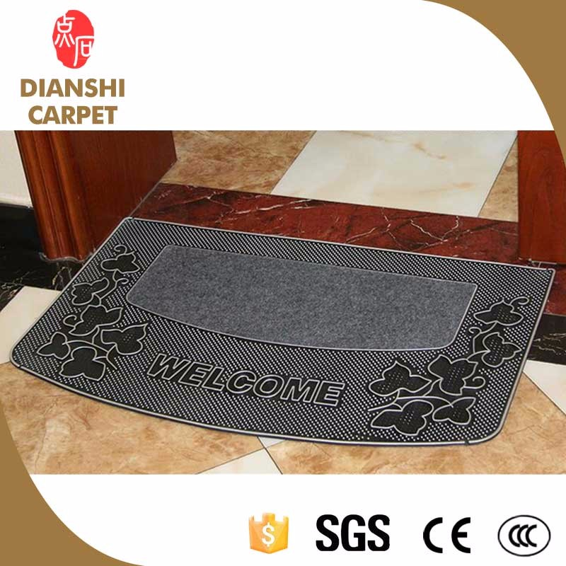 Newest Plain Free Shipping Anti-slip Standing PVC Car Floor Mat