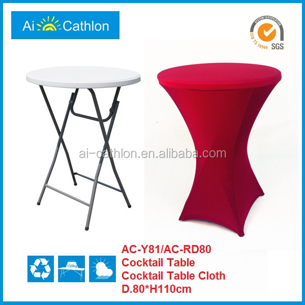 Spandex Elastic Cheap Cocktail Table Cover,Stretch Wedding Table Covers