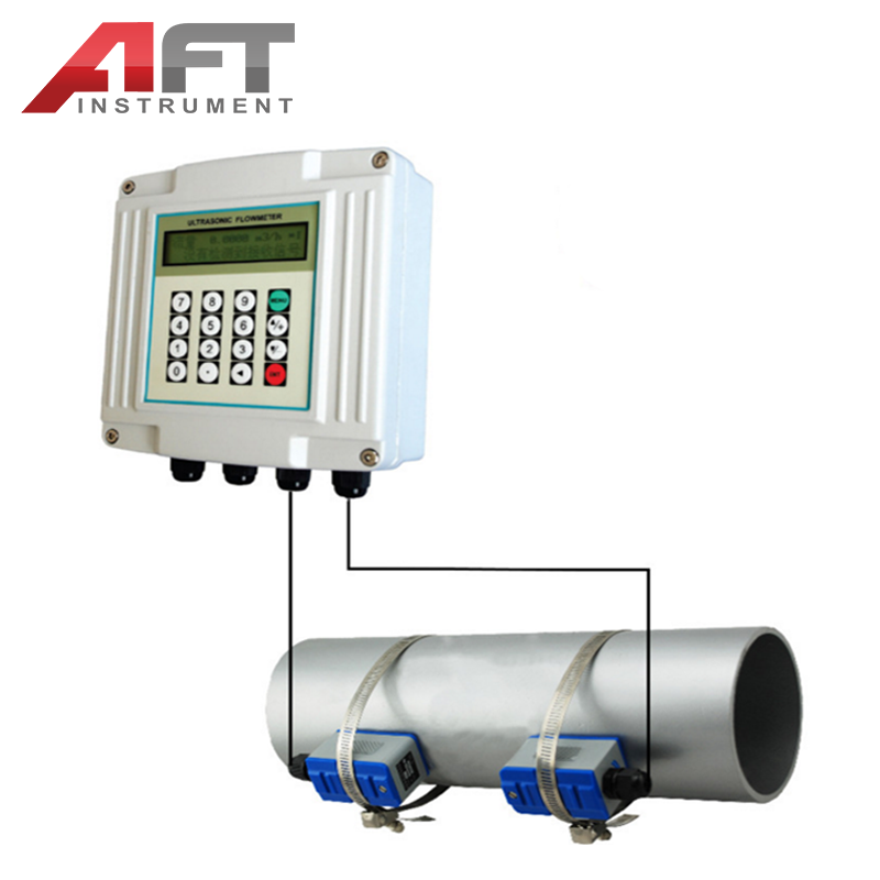 "4"" liquid flow meter digital ultrasonic  water meter flow meter"