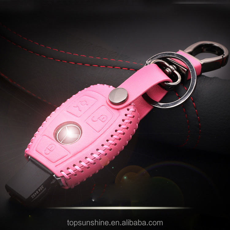 Genuine Premium Leather Key Fob Cover For For Mercedes Benz W203 W205 W210 W211 W212 <strong>W124</strong>