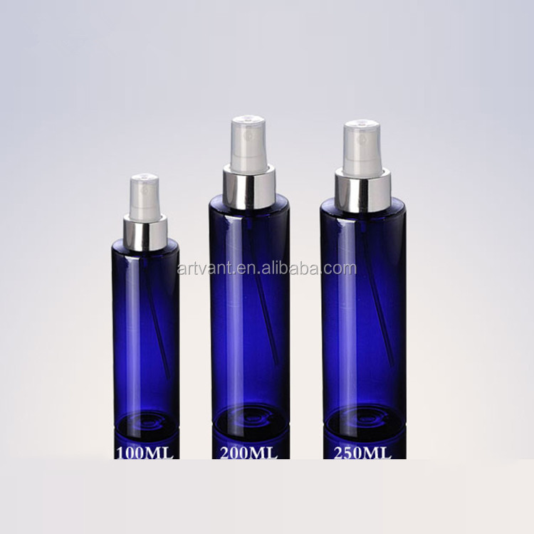 New Design Fashion Cosmetic PET Bottle With Silver Spray Cap,Packaging Plastic Bottle,Small PET Plastic Bottle For Toner/Perfume