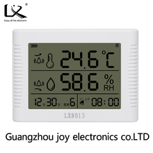 Household multi-function external probe hygrothermograph LX8013 capacitive sensor temperature and humidity meter