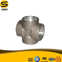 ASTM A105 Forged Carbon Steel Pipe Socket Welding Cross Fitting 3000/6000/9000