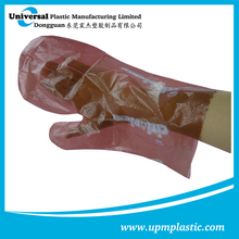 Disposable PE gloves Dog poop picker bags plastic cleaning gloves