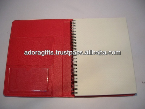 ADADC - 0135 custom hardcover journal book / new spiral bound leather journal / a5 classical red leather journal