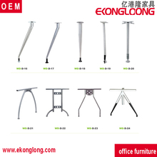 Custom chromed metal furniture folding table leg for sale