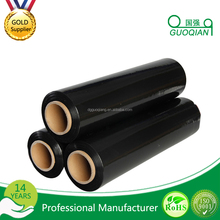 Black Color 17 mic Manual Winding Jumbo Roll Wrapping Polypropylene Stretch Film offer rda custom engraved