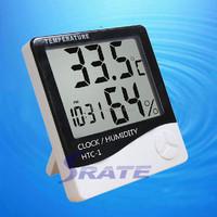 HTC-1 LCD Clock Digital Max Min Thermo Hygrometer