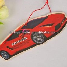 cotton paper plush car air freshener for car