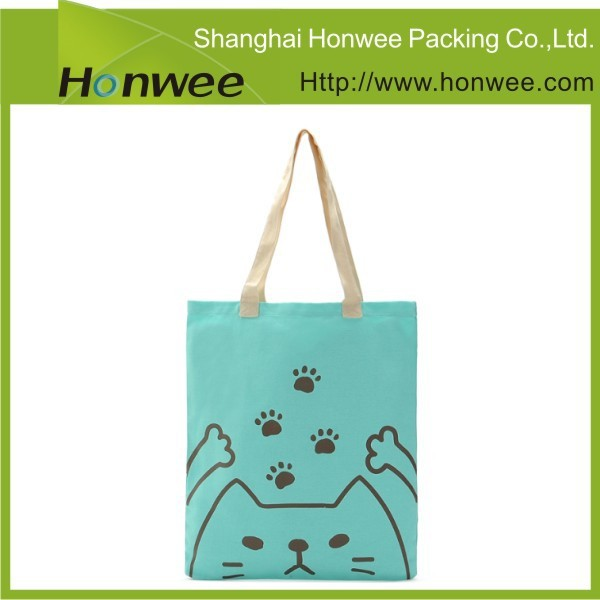 custom design denim bamboo wholesale vinyl tote bag