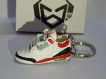 whole sale 3d sneaker keychain, shoe keychain, keychains with jordan shape