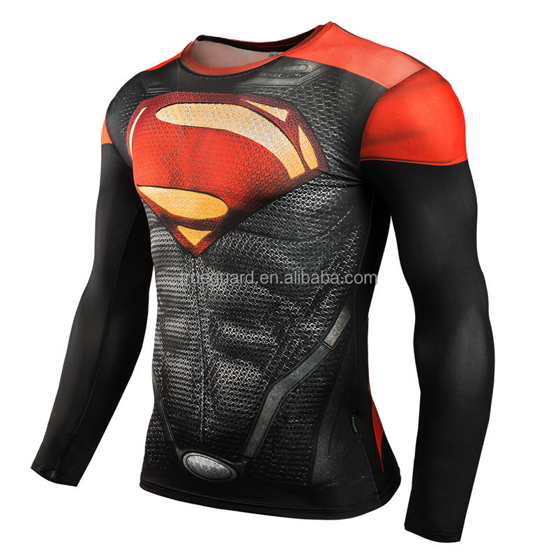 Mens Compression Shirts 3D Short Sleeve T Shirt Fitness Men Lycra MMA Crossfit T-Shirts Tights Brand Clothing