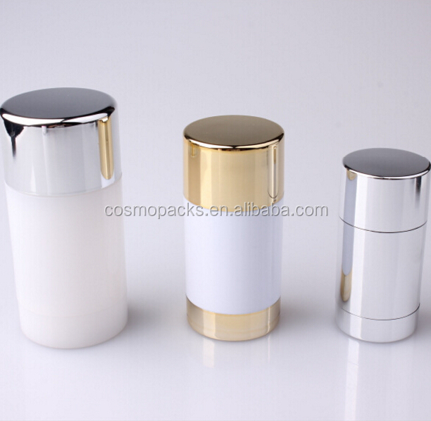 wholesale 15g 50g 75g empty plastic stick deodorant bottle container for sale and PP small gel white tube