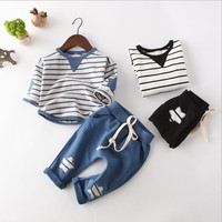 lx10035a new arrival baby clothes cotton long sleeve kids t shirts child wear
