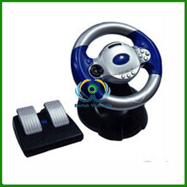 fast delivery replacement parts Racing Wheel with vibration for PS3/PS2/PC/XBOX360