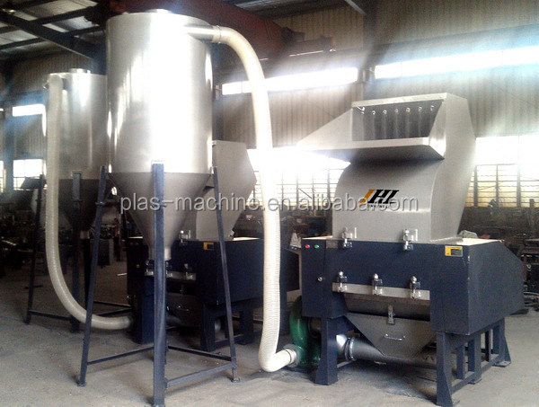 Recycling Plastic Blower : Plastic granulatorcrusher with extra suction blower and