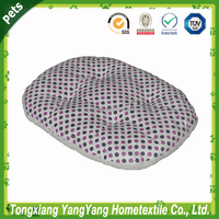 Purple round bed pet bed