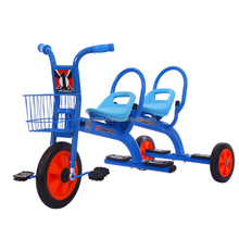 Toy tricycle with trailer, children baby tricycle, kid's tricycle for twin