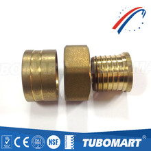 China Supplier good price certificate ISO brass pex fitting female adapter straight for pex pipe