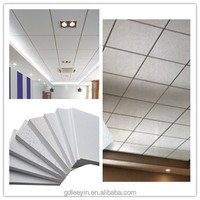 low price acoustic suspended fiberglass ceiling tiles board