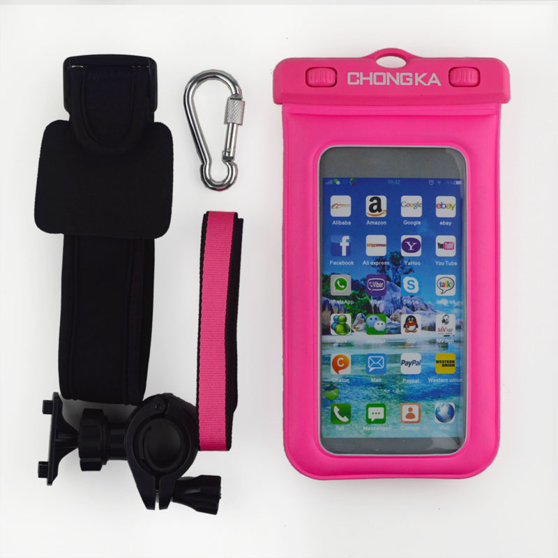 Best advertising promotional waterproof phone bag for iphone with armband earphones