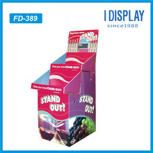 custom cardboard display booth supermarket fruit vegetable display racks