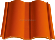 200x200mm Orange Red Terracotta Ceramic roof tiles for Garden Roofing Design