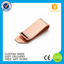 Wholesale high quality blank gold metal money clip