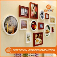 solid wood hanging picture frame sets for wall