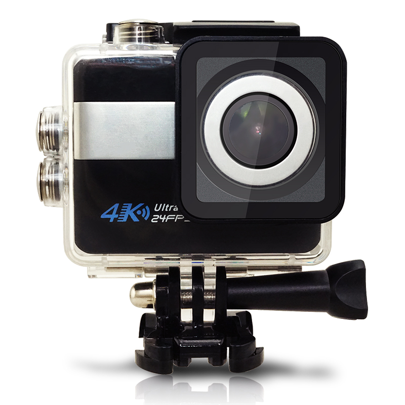 The 2017 New design touch screen 4K action camera IMX 117 Stabilization Audio controller NOVATEK 96660 yi action cam 4k