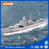 High quanlity 4 channel 6 KM/h 1: 275 model series destroyers with light funny plastic electric rc boat brushless