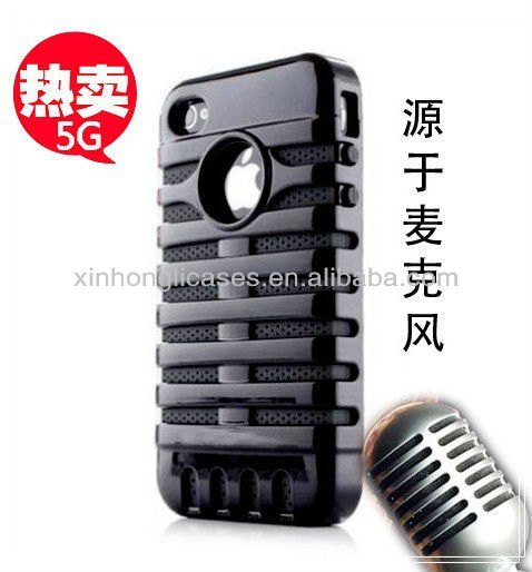 New Black Stripes Hybrid High Impact Combo Rubber color change back cover Case For iPhone 5 5G