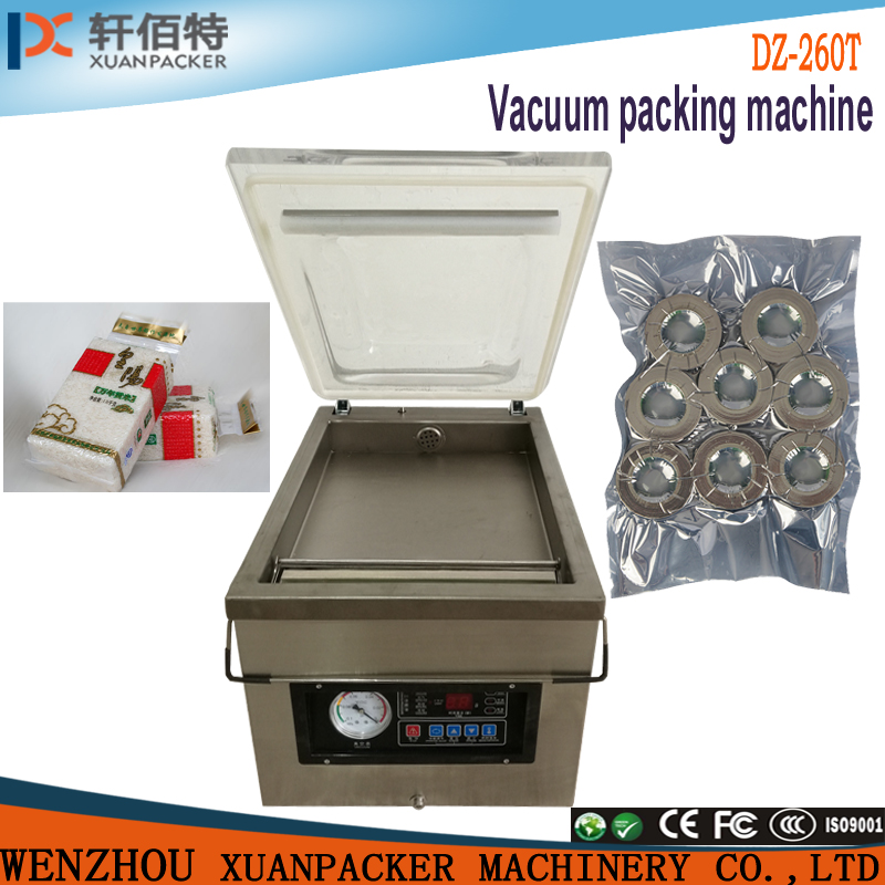 DZ260T food <strong>vacuum</strong> packaging machine/ Table Top Notes <strong>Vacuum</strong> Packing Machine