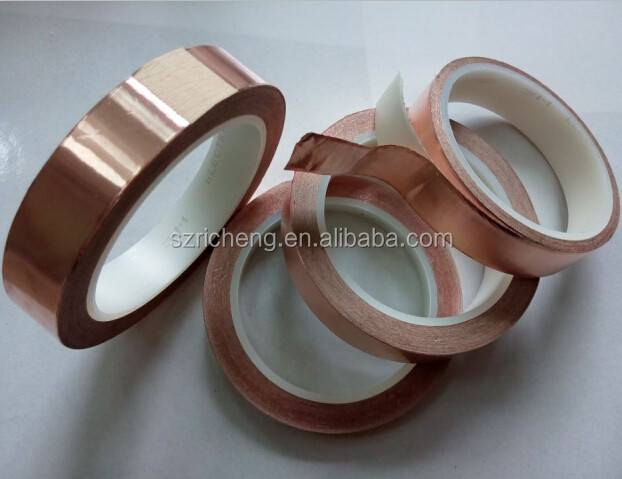 3M 1181 electrically conductive pressure-sensitive acrylic adhesive copper tape, size 23in*16.5m, we can die cut any width