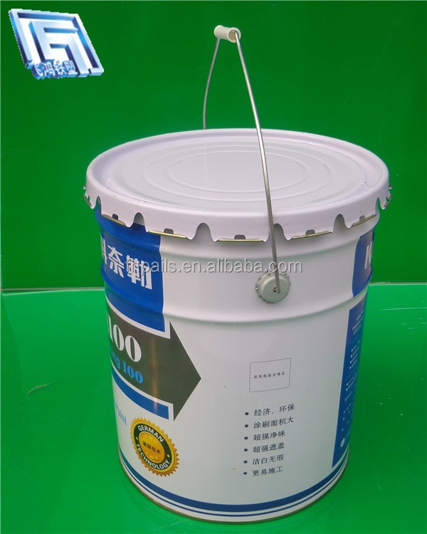 White metal bucket for packaging industrial products