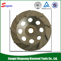 150mm Ceramic Bond Cup Shape Diamond Grinding Wheel