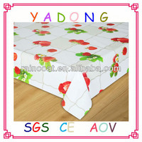 Fancy plastic vinyl coated tablecloth,table cover