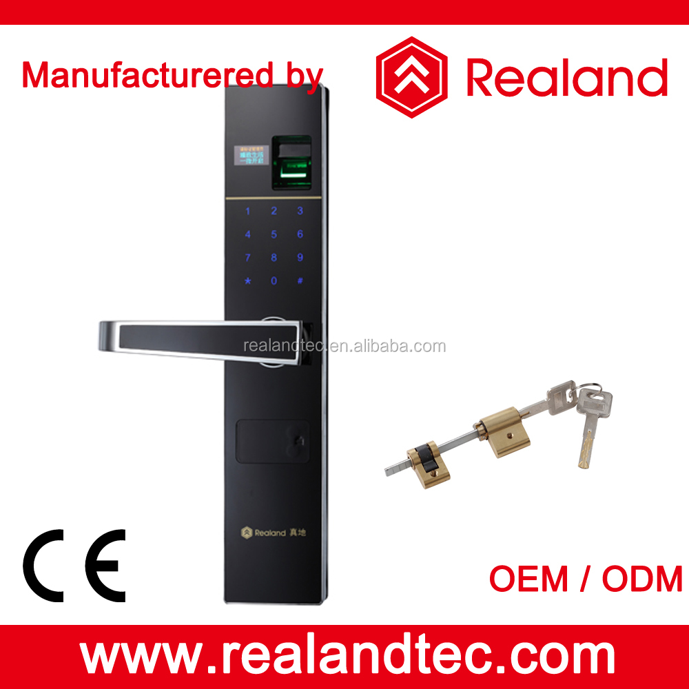 Realand F2 Zinc Alloy Material Home Security Fingerprint Digital Door Lock