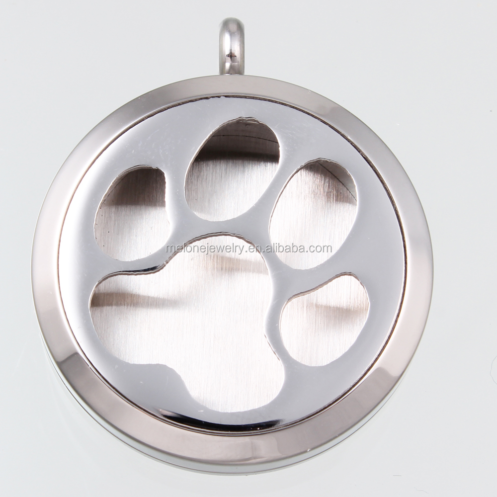 2016 Latest Puppy Paw Essential Oils Diffuser Locket Necklace <strong>Pendant</strong>