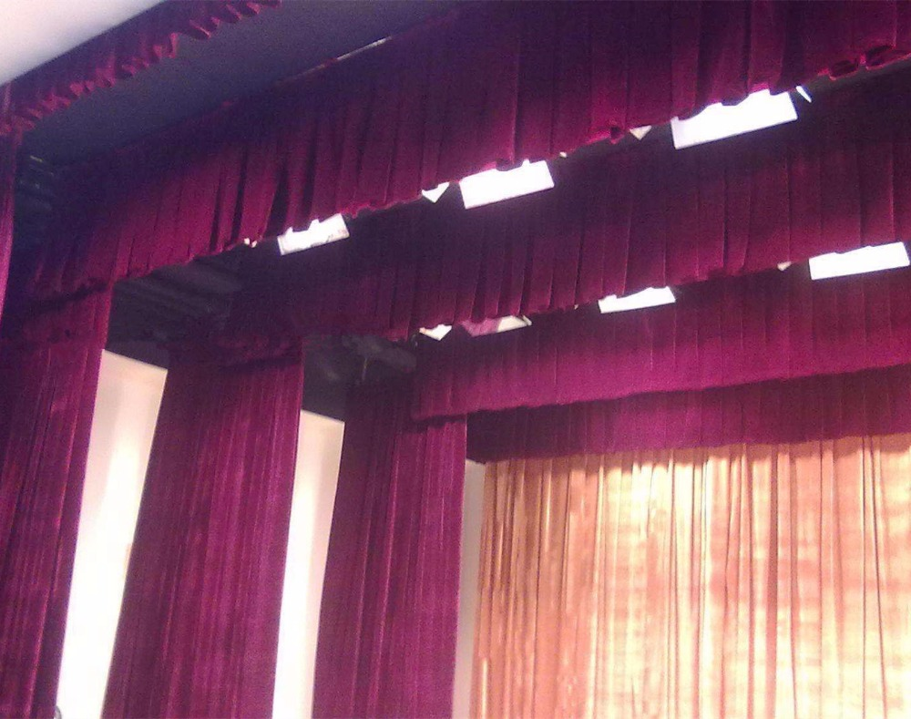 motorized velvet stage home theater curtains and drapes for sale