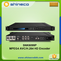 Digital Cable TV Headend MPEG-2 4 H 264 SD Encoder
