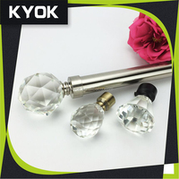 KYOK New design High quality cheap window curtain rod comptitive price ,sliding window curtain rods in dubai