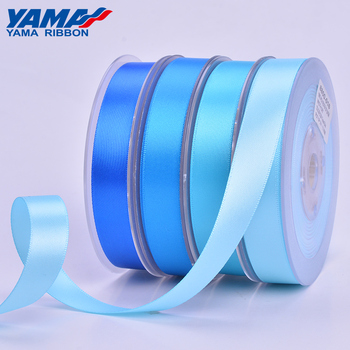 YAMA stocked wholesale solid colors double faced white satin ribbon