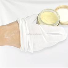 White comestic moisturizing cotton gloves moisture enhancing hand spa gloves