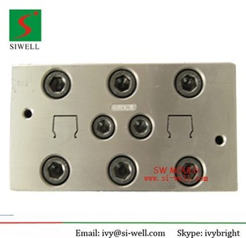 Plastic cable trunking extrusion mould